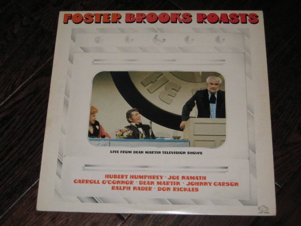 FOSTER BROOKS ROASTS  LP  DEAN MARTIN CARSON  RICKLES- NAMATH