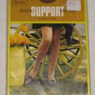 SEARS SHEER SUPPORT NYLONS  STOCKINGS BROWN SIZE 10 1/2 - 11