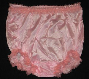 USA MADE ALL NYLON RUFFLE PANTIES XL  WAIST-41 IN  VARIOUS COLOURS