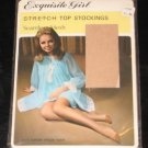 EXQUISITE GIRL STRETCH TOP NYLON STOCKINGS  SIZE 9 1/2  MADE CANADA
