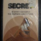 VINTAGE SECRET ALL SHEER PANTYHOSE ONE SIZE  BEIGE