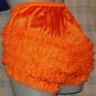 RETRO  STYLE  ORANGE CAN CAN CHIFFON RUFFLE PANTIES M-L-XL