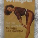 VINTAGE WHISPER   ALL SHEER  PANTYHOSE  ONE SIZE  LEGS  BLACK