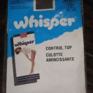 VINTAGE WHISPER CONTROL TOP  PANTYHOSE  TALL   LEGS  BROWN