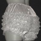 U.S. MADE GREY GRAY NYLON SISSY RUFFLE  PANTIES WAIST-34 IN