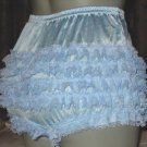 CD RETRO SEXY LIGHTL BLUE RUFFLE RHUMBA SISSY PANTIES  MED LG  XL