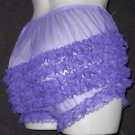 CD ULTRA SHEER GIRLY VINTAGE STYLE  PURPLE  PANTIES   M-L-XL