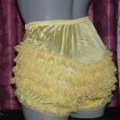 CD RETRO SEXY YELLOW RUFFLE RHUMBA SISSY PANTIES  MED LG  XL