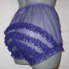 CD ULTRA SHEER GIRLY VINTAGE STYLE  PURPLE  PANTIES  PANTIES Medium