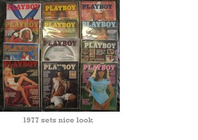 Playboy Magazines 1977 Complete Year