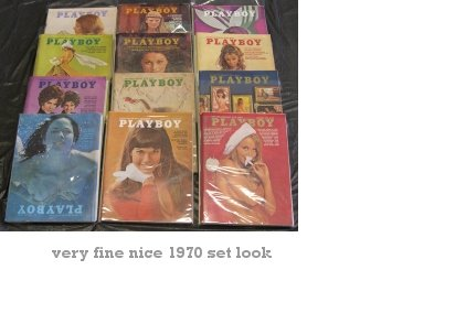 Playboy Magazines 1970 Complete Year