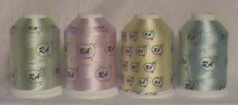 Robison-Anton Baby Rayon Machine Embroidery Thread Set (4 mini-king cones)