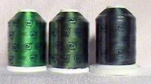 Robison-Anton Green Rayon Embroidery Thread Set (3 mini-king cones, 1000 meters)