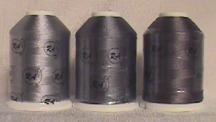 Robison-Anton Grey Rayon Machine Embroidery Thread Set (3 mini-king cones, 1000 meters)