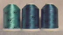 Robison-Anton Peacock Rayon Machine Embroidery Thread Set (3 mini-king cones, 1000 meters)