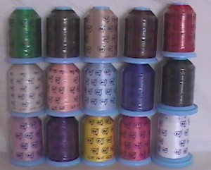 Robison-Anton Starter Set Polyester Machine Embroidery Thread Set (15 mini king cones, 1000 meters)