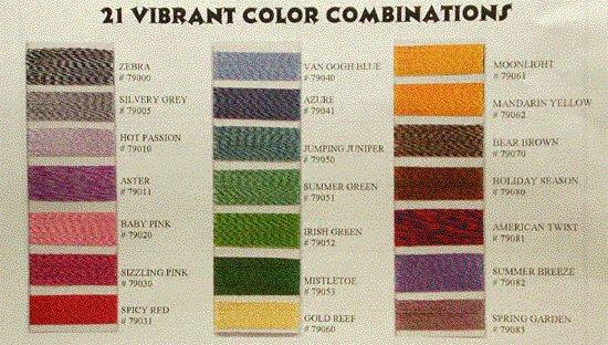 Robison-Anton Twister Tweed Rayon Machine Embroidery Thread (1 mini-king cone, 694 meters/700 yards)