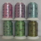 Robison-Anton Floral Variegated Rayon Machine Embroidery Thread Set (6 mini-king cones)