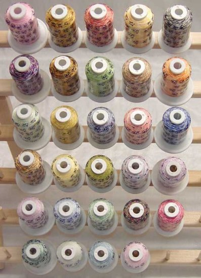 Robison-Anton Set of Variegated Rayon Machine Embroidery Thread Set (29 mini-king cones)