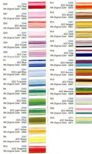 Robison-Anton Variegated Rayon Machine Embroidery Thread Set (1 mini-king cone)