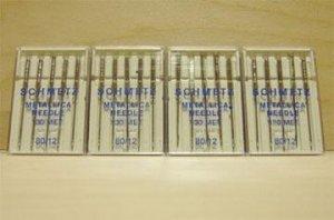 100 Schmetz Metallic 80/12 Needles 130MET