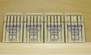 100 Schmetz Metallic 90/14 Needles 130MET