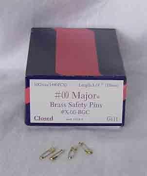 Brass Safety Pins - 10 gross