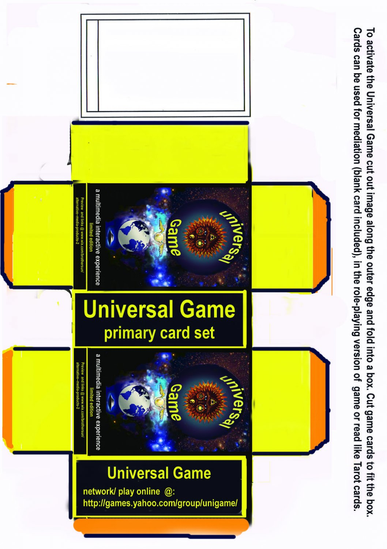 Universal Game- graphic novel, links & card game