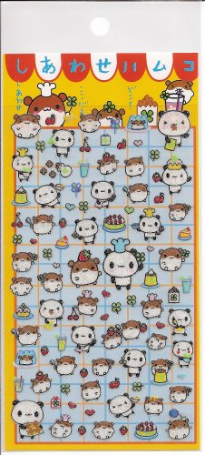 Preco Hamsters and Pandas Chefs Sticker Sheet