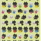Q-Lia Simple Cutie Collection Black Cats and Yarn Sticker Sheet