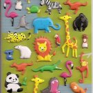 Mind Wave Smile Animal Puffy Sticker Sheet