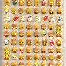 Kamio Burger Shop Puffy Sticker Sheet