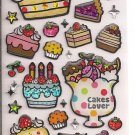 Mind Wave Cakes Lover Sparkly Sticker Sheet