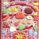Q-Lia Kids Seal Various Kids' Lunch Foods Puffy Sticker Sheet