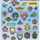Japanese Space Monsters/Aliens Sticker Sheet
