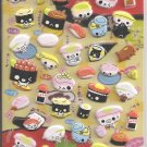 Crux Sushi Friends Puffy Sticker Sheet