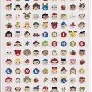 Mind Wave Happy Friends Round Heads Sticker Sheet