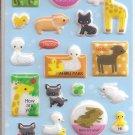 Kamio Ahiru Park Puffy Animals Sticker Sheet