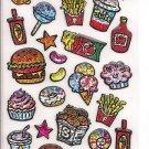 Q-Lia Sparkling Junk Food Sticker Sheet