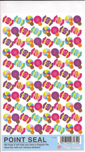 Wizard Co. Very Berry Candies and Lollipops Sticker Sheet