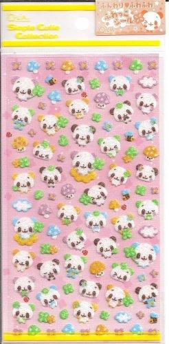 Q-Lia Colorful Pandas Sticker Sheet