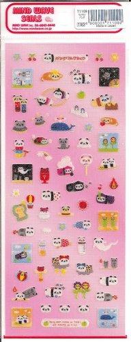 Mind Wave Panda Pills Usacolle Sticker Sheet