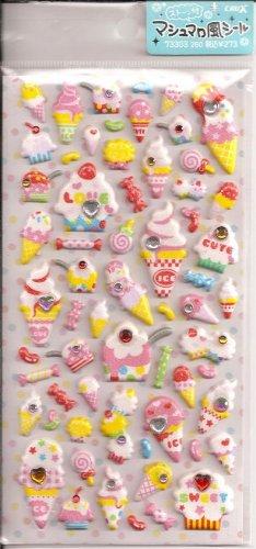 Crux Glittery Puffy Desserts with Rhinestones Sticker Sheet