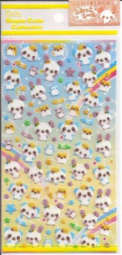 Q-Lia Rabbits, Bears, and Hamsters Felt Sticker Sheet