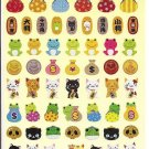 Kamio Lucky Cats and Charms Sparkly Sticker Sheet