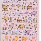 Q-Lia Bears City Night Sky Sparkly Sticker Sheet