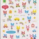 Crux/Kamio (?) Funky Animal Sparkly Sticker Sheet