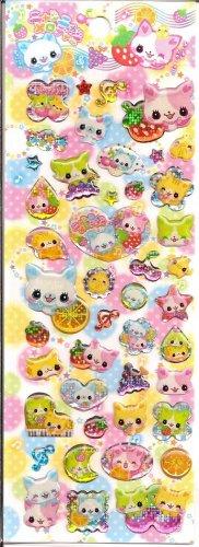 Crux Nyan Fruits Sparkly Sticker Sheet
