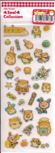 Ark Road Hamsters and Bunnies Travel Sparkly Sticker Sheet
