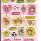 Crux Hi!School Girl Sports Club Hard Epoxy Sticker Sheet